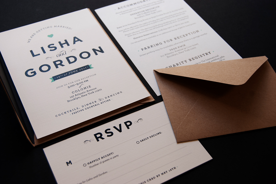 Wedding invitation suite - annadorfman.com