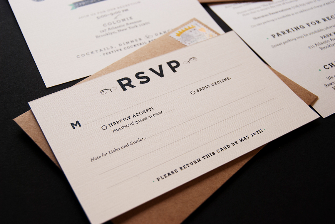 Wedding invitation suite - annadorfman.com